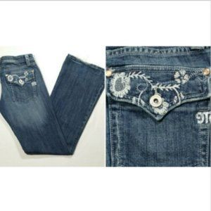 MISS ME Low Rise Distressed Bootcut Jeans 2216E1M
